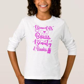 Camiseta Braceletes, arcos, beleza e livros