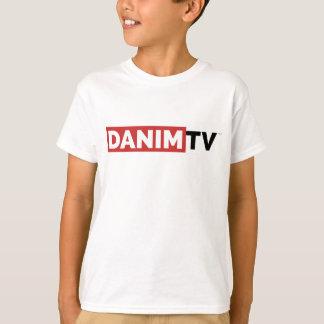 Camiseta branca básica do logotipo oficial da tevê