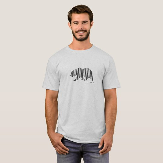 Camiseta branca/cinza (White/Gray T-Shirt)