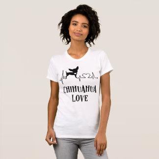 Camiseta branca do amor da chihuahua