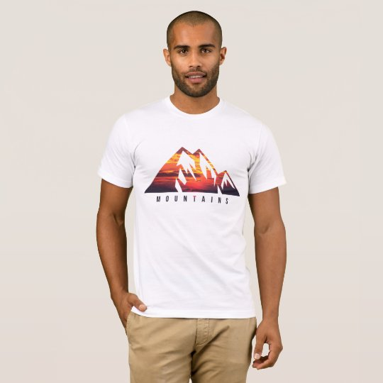 Camiseta branca Montains