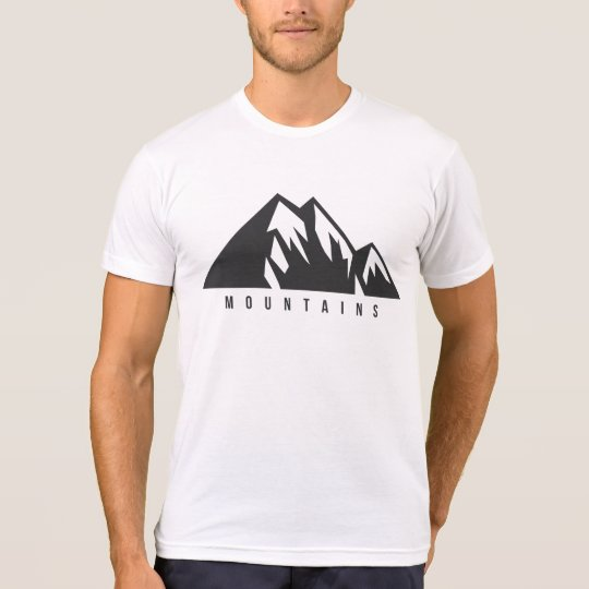 Camiseta branca Mountains Basic