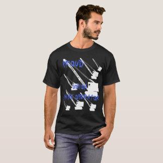 Camiseta BRANCO AUSTERO orgulhoso do OPERADOR de GUINDASTE