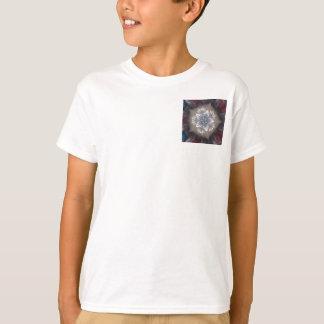Camiseta Branco azul brilhante da estrela festiva elegante