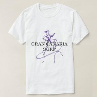 Camiseta Branco básico do t-shirt dos homens do surf de