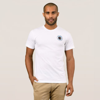 Camiseta Branco básico do t-shirt dos homens dos marismas