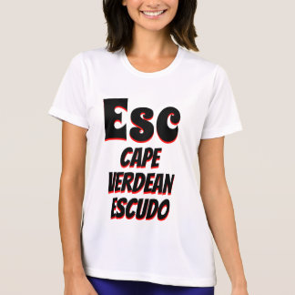 Camiseta Branco cabo-verdiano do escudo do Esc