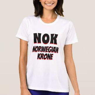 Camiseta Branco da coroa norueguesa da NOK