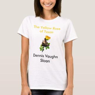 Camiseta BRANCO de Dennis Backround, o rosa amarelo de