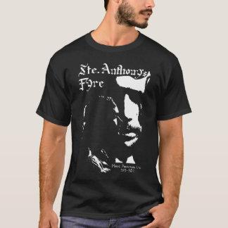 Camiseta Branco de Fyre de Sainte Anthony no preto