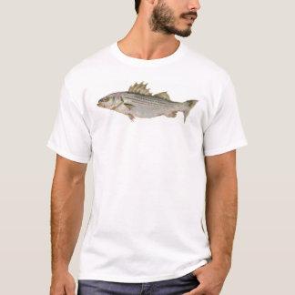 Camiseta branco do baixo listrado colhido