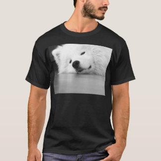 Camiseta Branco do cão da foto do Samoyed