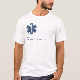Camiseta Branco do diaysis de EMT