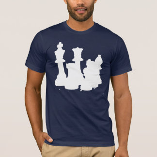 Camiseta Branco do grupo de xadrez