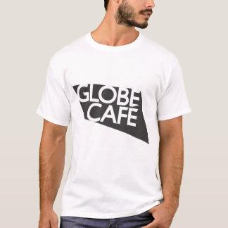 Camiseta Branco do preto do café do globo