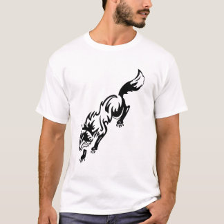 Camiseta Branco do preto do design do estilo do tatuagem do