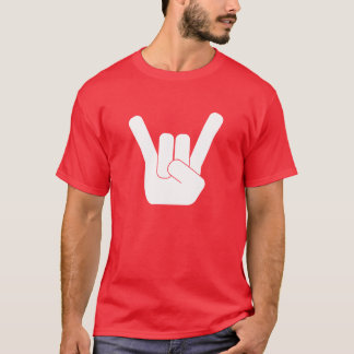 Camiseta Branco do sinal da rocha