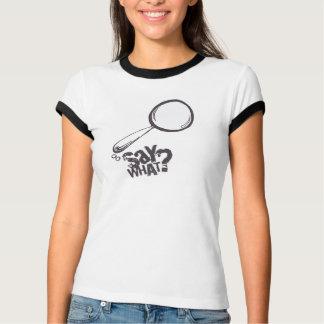 Camiseta BRANCO do t-shirt da bolha do discurso dos