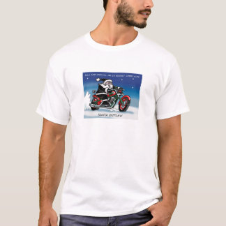 Camiseta Branco do t-shirt de Outlaw© do papai noel