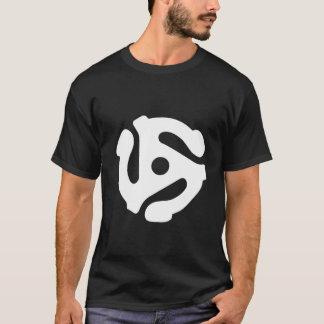 Camiseta Branco do t-shirt do ADAPTADOR de 45 RPM