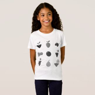 Camiseta Branco do t-shirt dos desenhistas com fruta