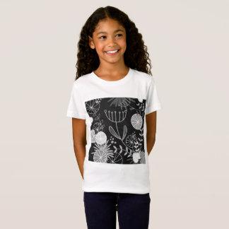 Camiseta Branco do tshirt dos desenhistas das meninas com