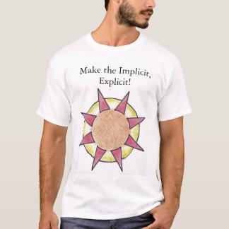 Camiseta Branco implícito/explícito. Com defintions