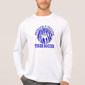 Camiseta Branco longo da luva da bola de futebol da cara do