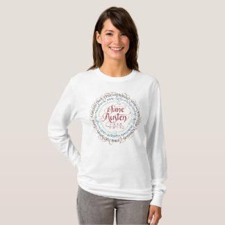 Camiseta Branco longo do t-shirt da luva do drama de