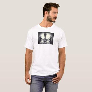 Camiseta Branco Paranormal do fantasma dos homens T do