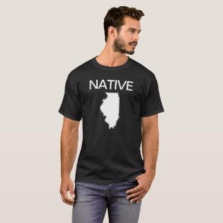 Camiseta Branco preto nativo de Illinois