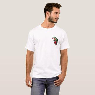 Camiseta Branco tradicional do t-shirt do cobra