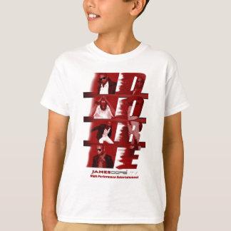 Camiseta Branco VERMELHO do t-shirt dos miúdos