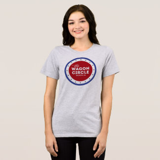 Camiseta Branco vermelho e azul macios e confortáveis