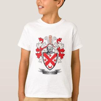 Camiseta Brasão da crista da família de Anderson
