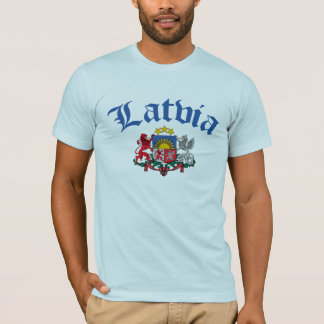 Camiseta Brasão de Latvia