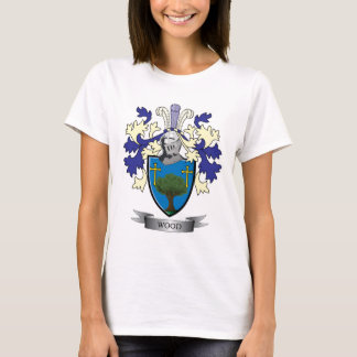 Camiseta Brasão de madeira da crista da família
