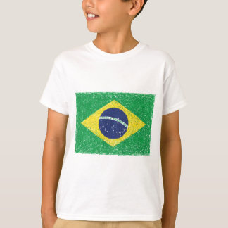 Camiseta Brasileiro do *Hand-sketch* da bandeira de Brasil