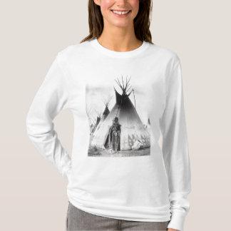 Camiseta Bravo Blackfoot, perto de Calgary, Alberta, 1889
