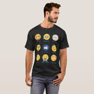 Camiseta Brazillian Jiu-jitsu 9 Emoticons das máscaras BJJ