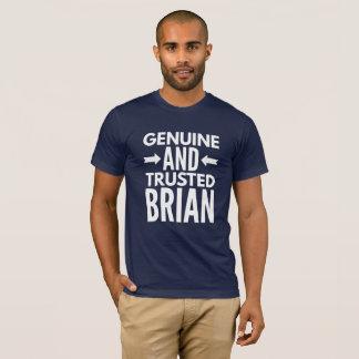 Camiseta Brian genuíno e confiado
