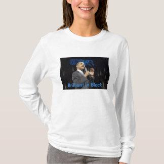 Camiseta Brilhante no t-shirt preto