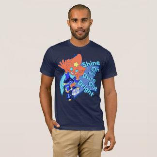 Camiseta Brilhe sobre e queime brilhante