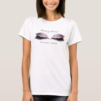 Camiseta Brilho da lavanda do olho do chicote da beleza do