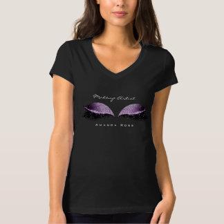 Camiseta Brilho da uva do preto do olho do chicote da