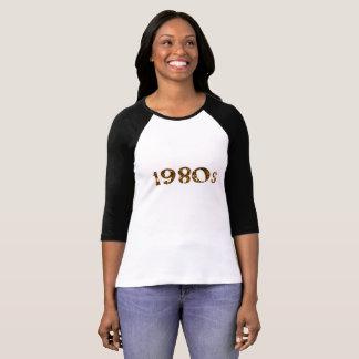 Camiseta brilho do ouro da nostalgia dos anos 80