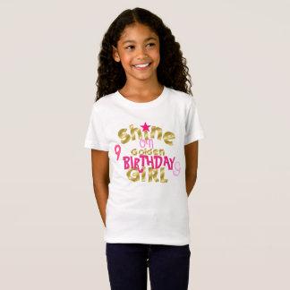 Camiseta Brilho na menina do aniversário