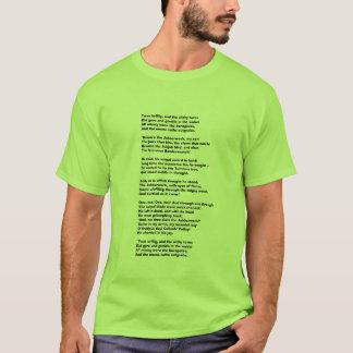 Camiseta Brillig de Twas, e o gyre slithy do tovesDid e…