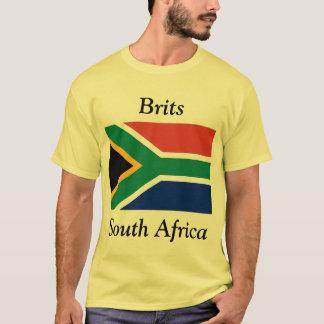 Camiseta Británico, África do Sul com sul - bandeira