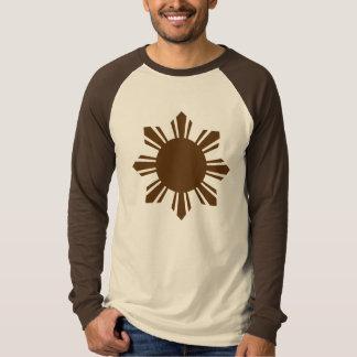 Camiseta brn do ls do filirootswear